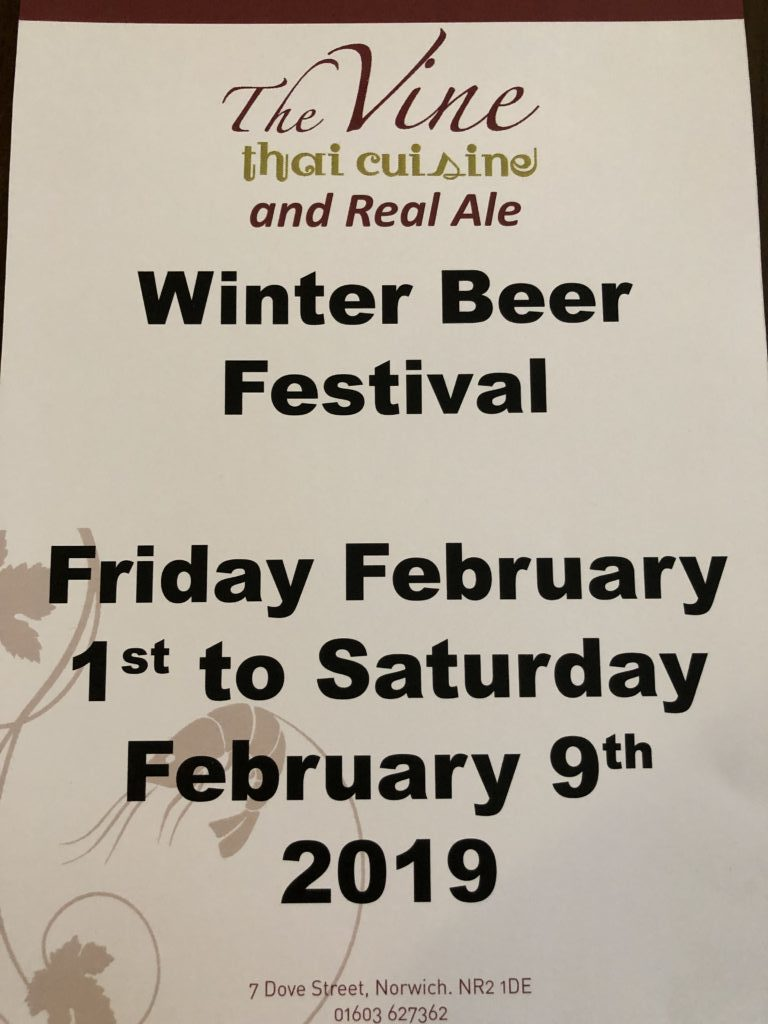 norwich winter beer festival 2019 at the vine