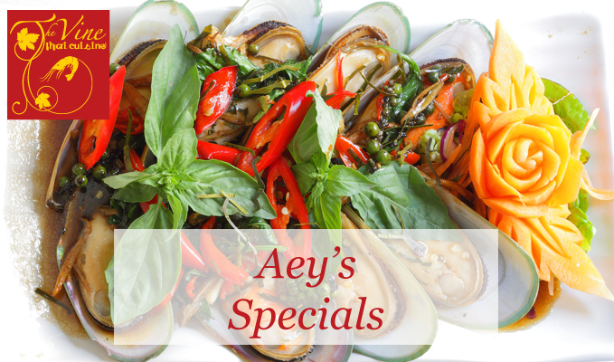 vine thai norwich aeys specials menu