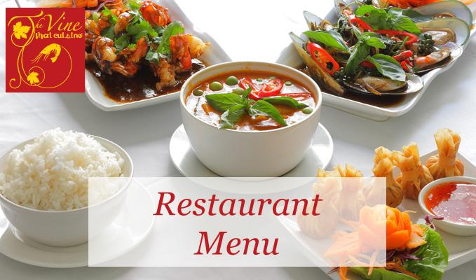 vine thai norwich restaurant menu