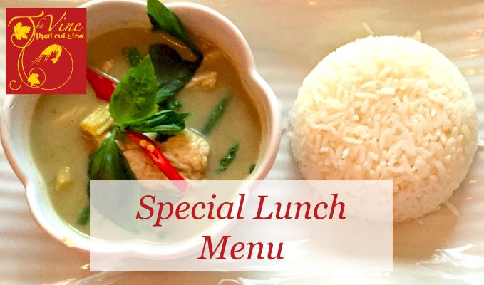 vine thai norwich special lunch menu