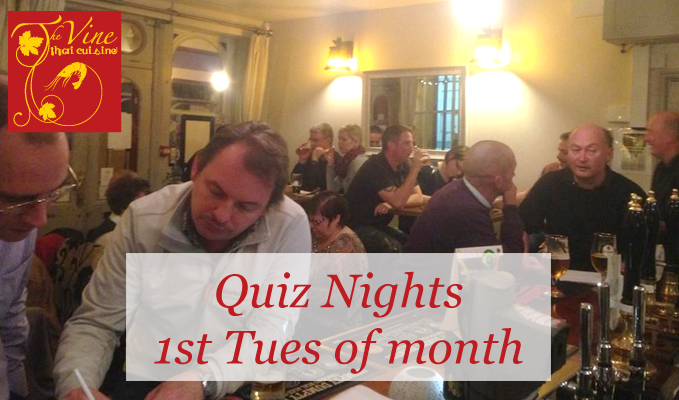 vine thai norwich quiz nights