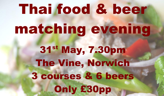 thai food and beer norwich
