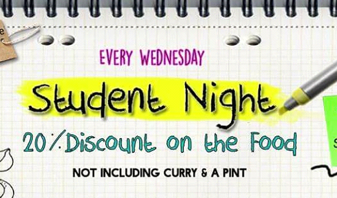 student night discount thai food norwich