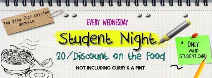 student night vine pub norwich