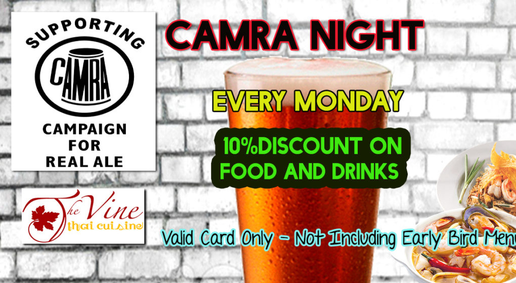 camra night mondays vine thai discount