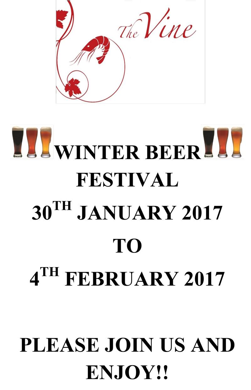 the vine norwich winter beer festival jan feb 2017