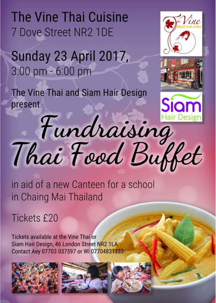 fundraising thai food buffet norwich