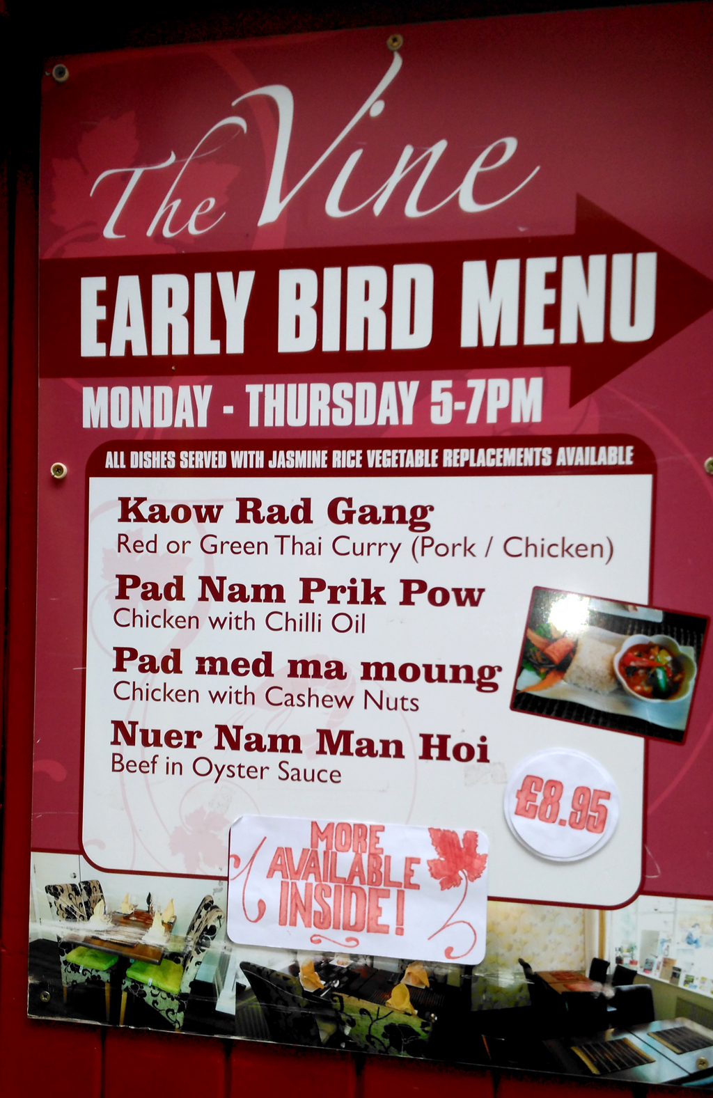 vine thai early bird menu