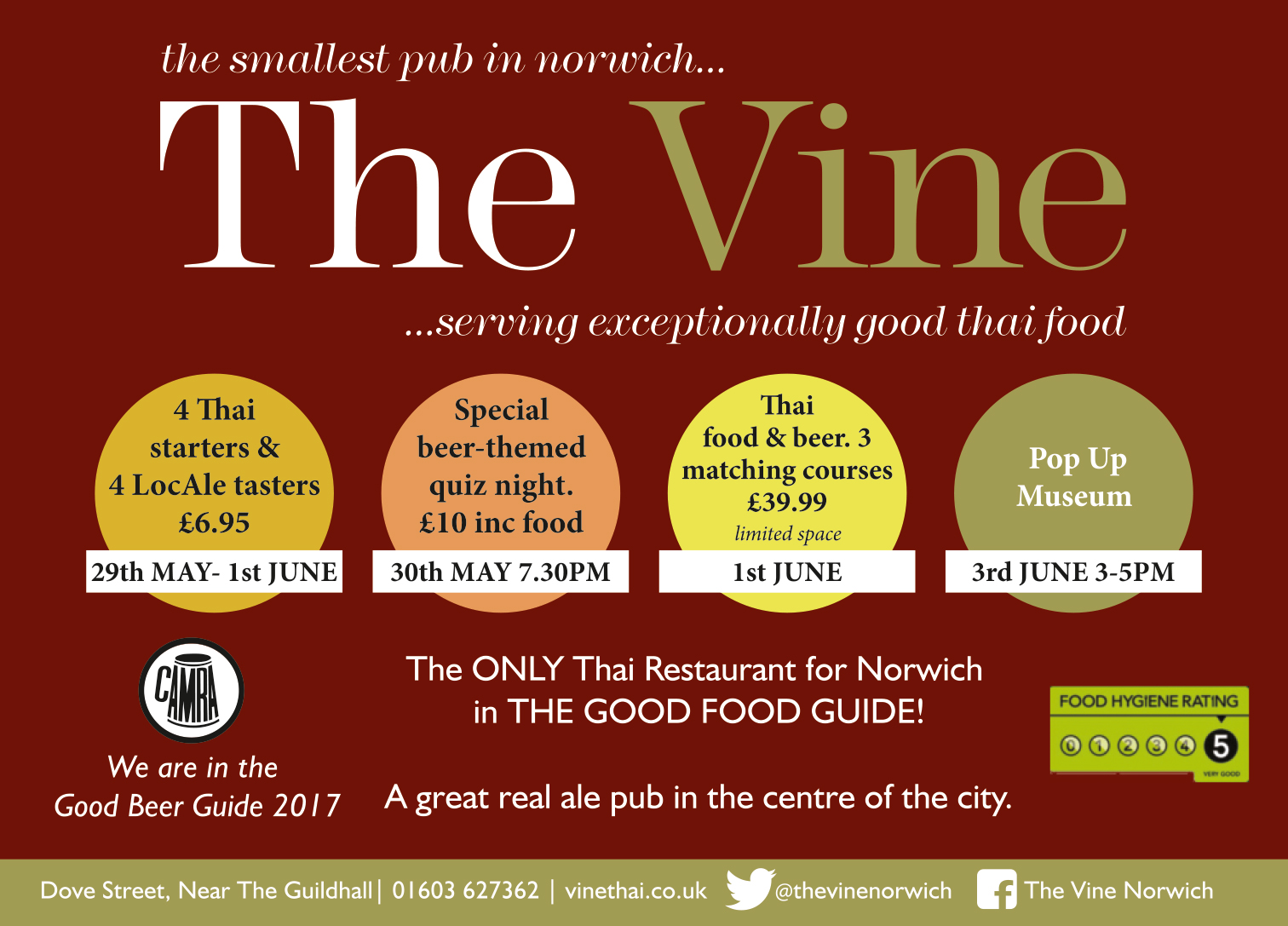 Events at The Vine for Norwich City of Ale