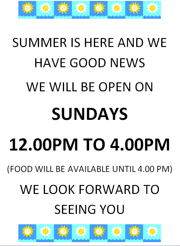 summer sundays open at vine thai norwich