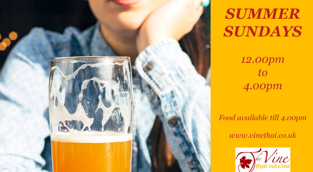 summer sundays at the vine thai